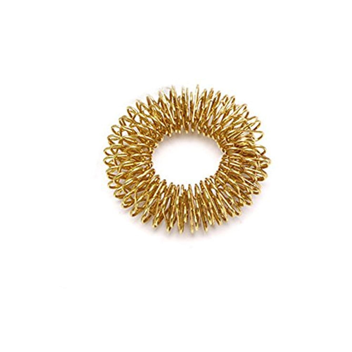 確率蛾高層ビルManyao ボディフィンガーマッサージリング鍼灸リングヘルスケアゴールド/シルバーメッキクール (ゴールド)