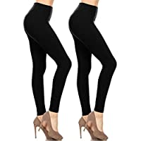 Leggings Mania Buttery Soft Leggings with High Yoga Waist - Many Colors Regular/Plus Size