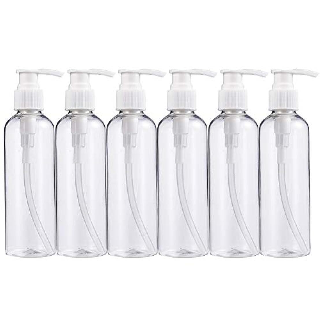 ルーキー価値のない悪夢BENECREAT 200mlプラスティックスボトル 6個セット小分けボトル プラスチック容器 液体用空ボトル 押し式詰替用ボトル 詰め替え シャンプー クリーム 化粧品 収納瓶
