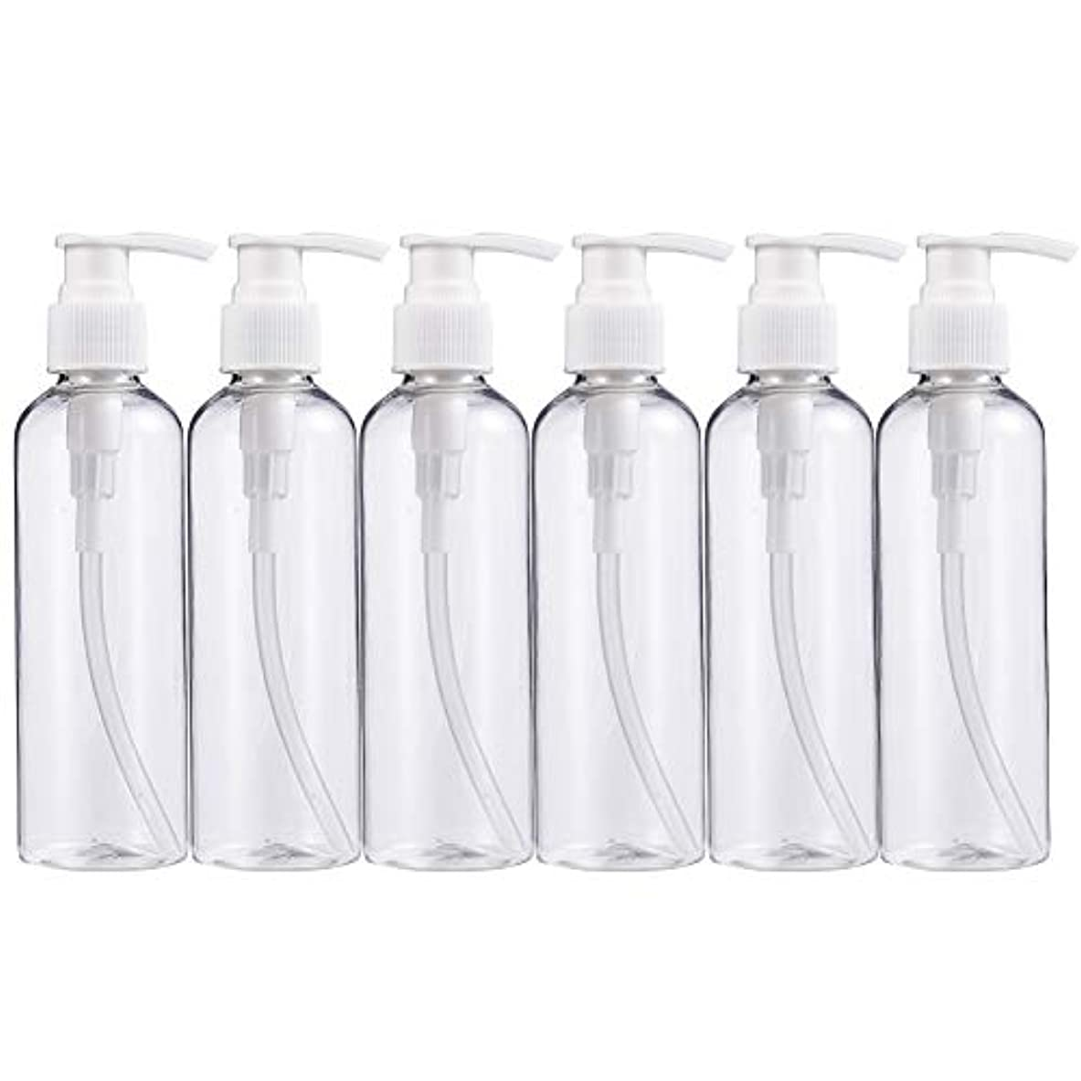 不可能なのぞき見皮肉BENECREAT 200mlプラスティックスボトル 6個セット小分けボトル プラスチック容器 液体用空ボトル 押し式詰替用ボトル 詰め替え シャンプー クリーム 化粧品 収納瓶