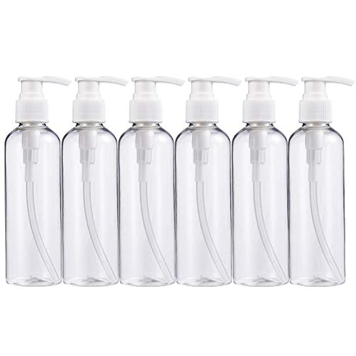 中国五金銭的BENECREAT 200mlプラスティックスボトル 6個セット小分けボトル プラスチック容器 液体用空ボトル 押し式詰替用ボトル 詰め替え シャンプー クリーム 化粧品 収納瓶