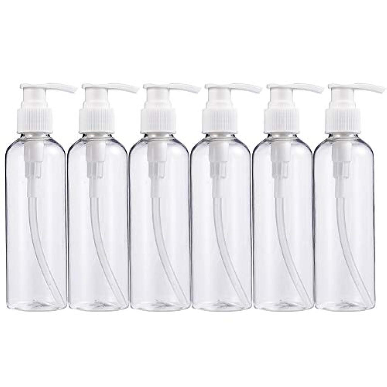 彼女議論する成人期BENECREAT 200mlプラスティックスボトル 6個セット小分けボトル プラスチック容器 液体用空ボトル 押し式詰替用ボトル 詰め替え シャンプー クリーム 化粧品 収納瓶