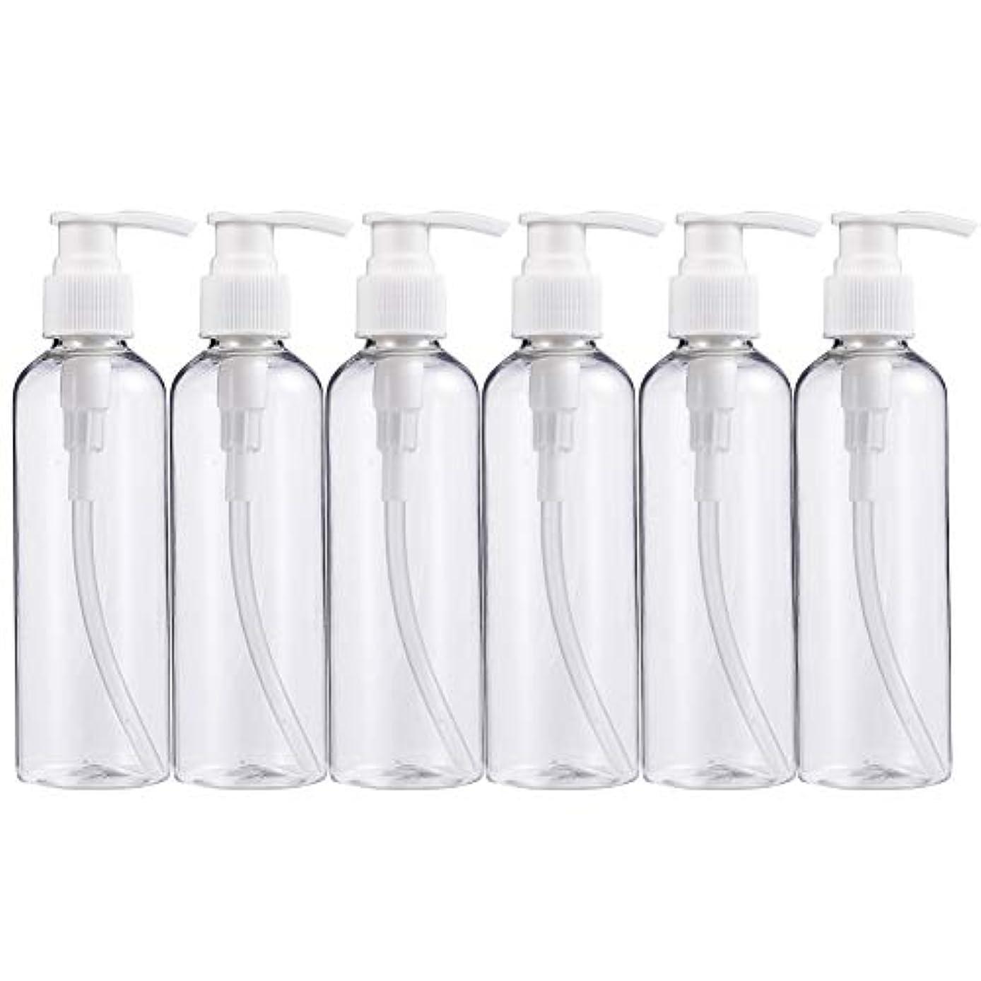 蛇行セメントBENECREAT 200mlプラスティックスボトル 6個セット小分けボトル プラスチック容器 液体用空ボトル 押し式詰替用ボトル 詰め替え シャンプー クリーム 化粧品 収納瓶