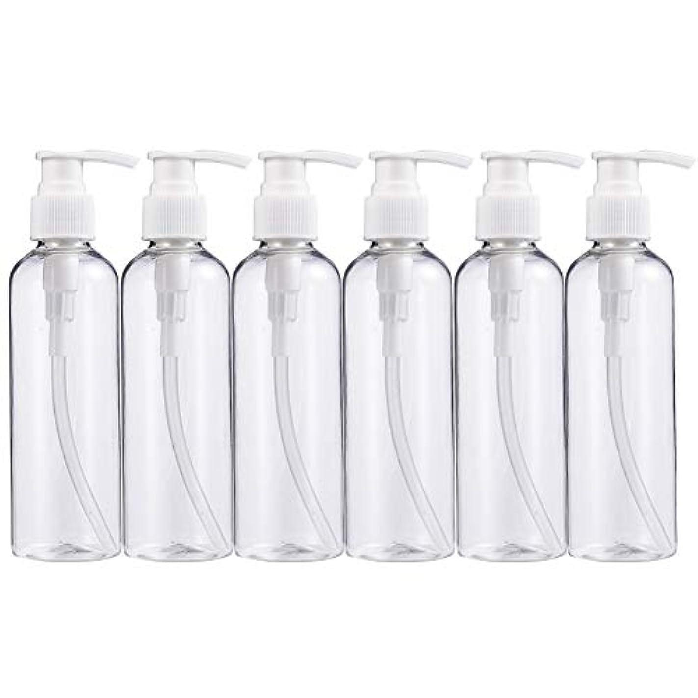 テクニカル締める横BENECREAT 200mlプラスティックスボトル 6個セット小分けボトル プラスチック容器 液体用空ボトル 押し式詰替用ボトル 詰め替え シャンプー クリーム 化粧品 収納瓶