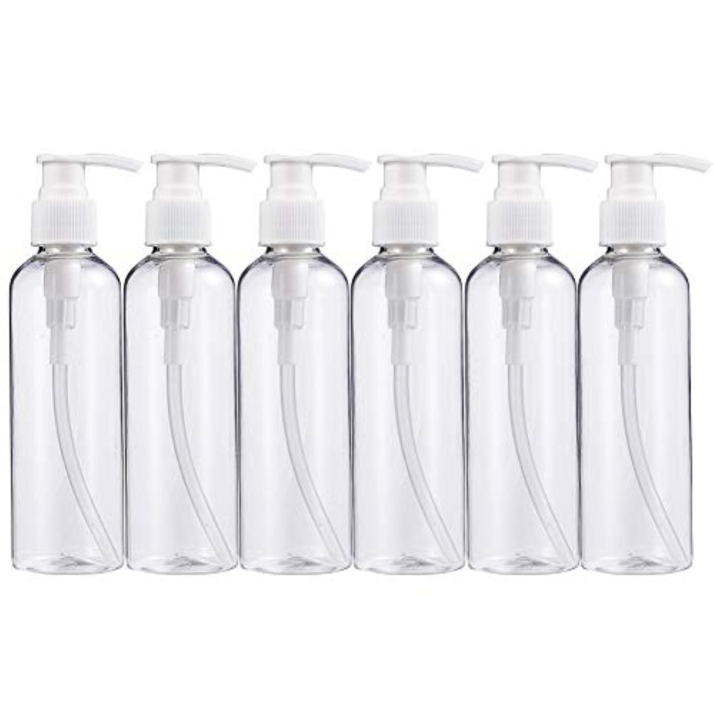 例うまくやる()落胆するBENECREAT 200mlプラスティックスボトル 6個セット小分けボトル プラスチック容器 液体用空ボトル 押し式詰替用ボトル 詰め替え シャンプー クリーム 化粧品 収納瓶