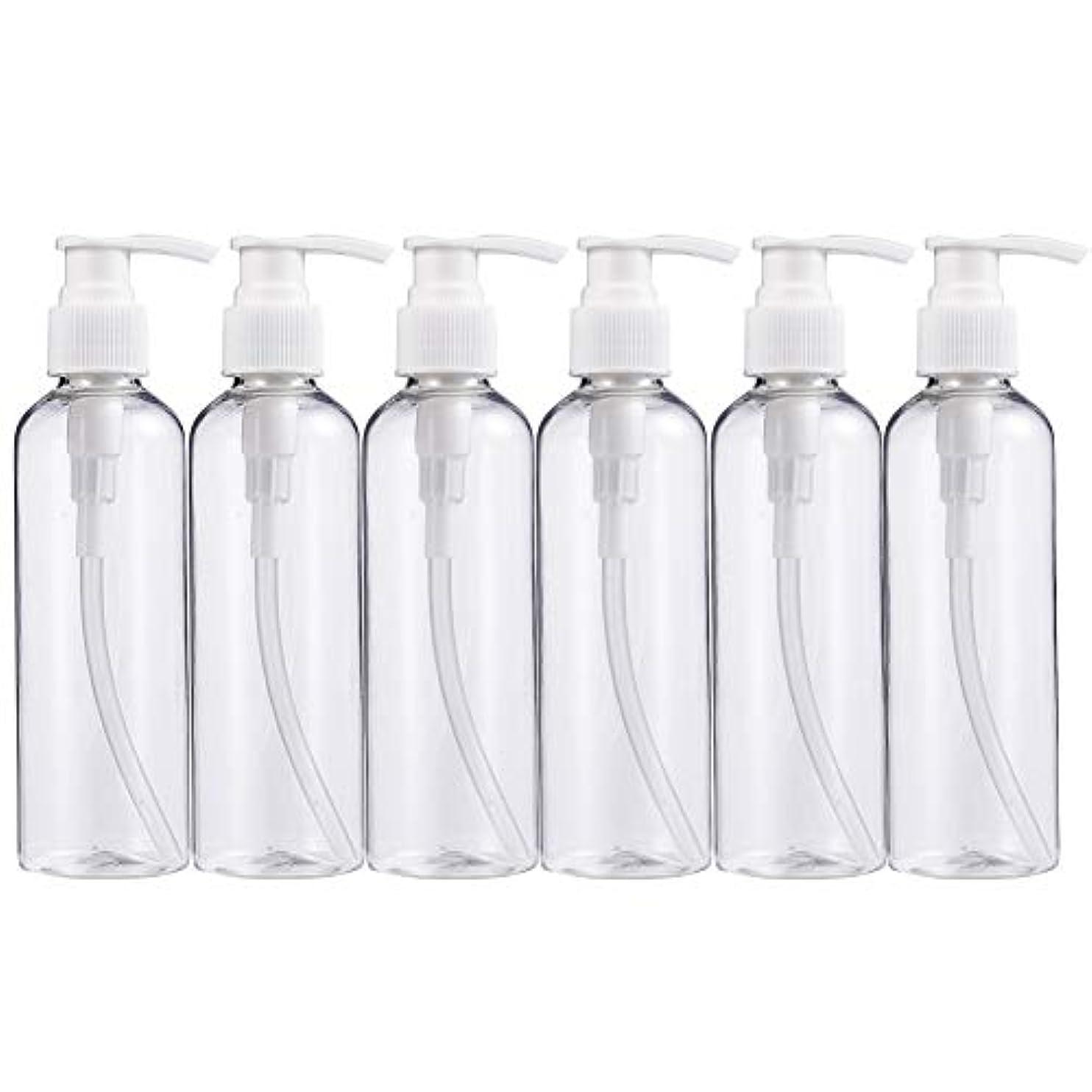 花嫁そのであるBENECREAT 200mlプラスティックスボトル 6個セット小分けボトル プラスチック容器 液体用空ボトル 押し式詰替用ボトル 詰め替え シャンプー クリーム 化粧品 収納瓶