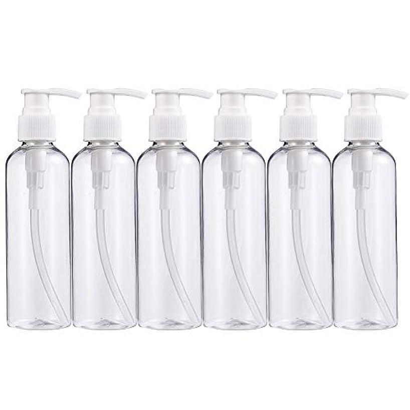 ディレイ鎖超えてBENECREAT 200mlプラスティックスボトル 6個セット小分けボトル プラスチック容器 液体用空ボトル 押し式詰替用ボトル 詰め替え シャンプー クリーム 化粧品 収納瓶