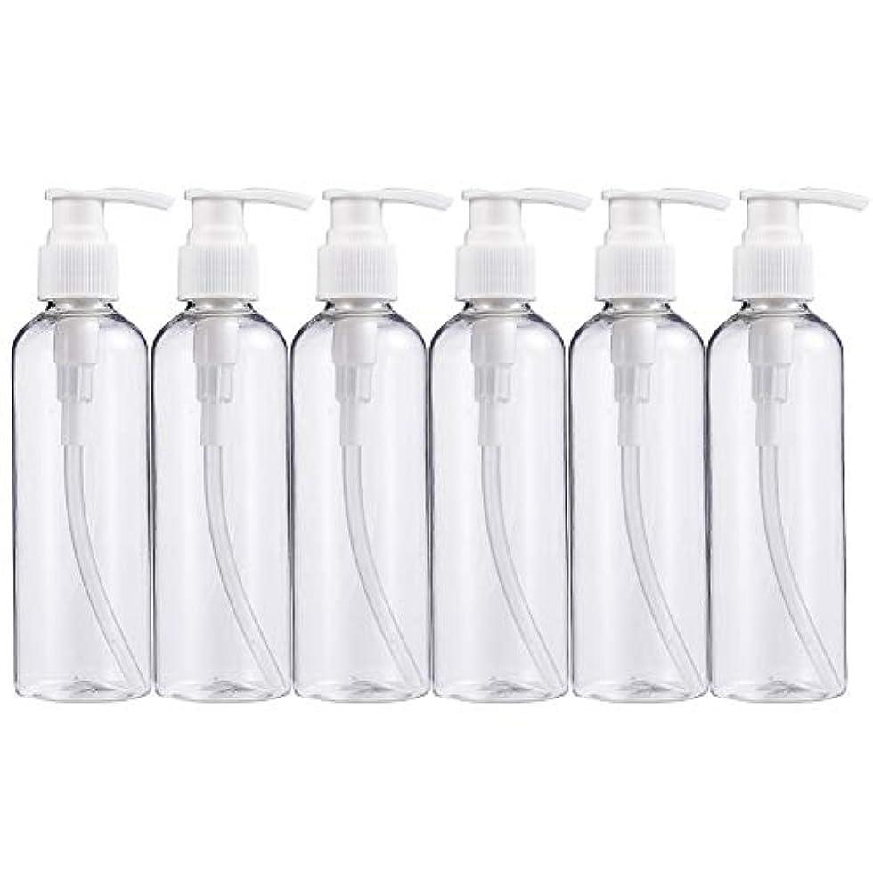 ガチョウ調べるクスコBENECREAT 200mlプラスティックスボトル 6個セット小分けボトル プラスチック容器 液体用空ボトル 押し式詰替用ボトル 詰め替え シャンプー クリーム 化粧品 収納瓶