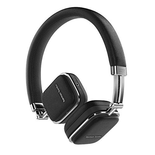 Harman Kardon SOHO WIRELESS Bluetoothヘッドホン 密閉型/オンイヤー/イヤーカップ モーションセンサー搭載 ブラ