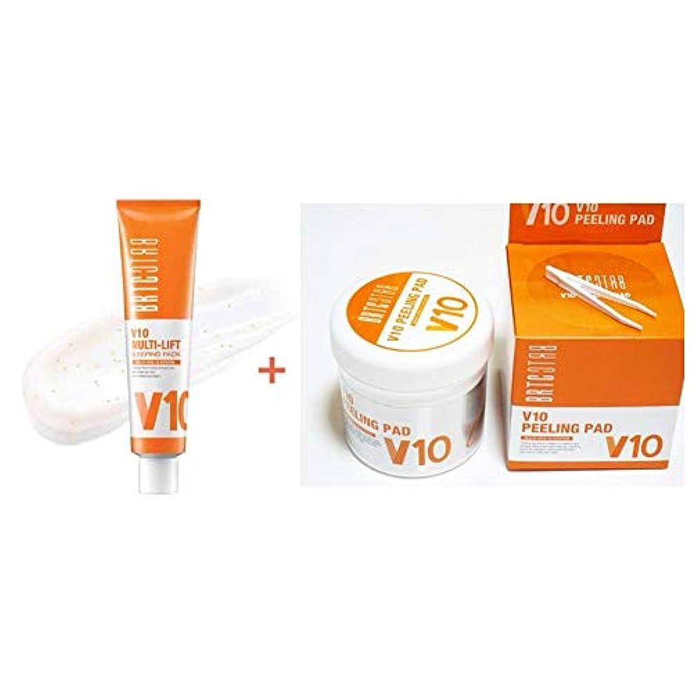 ベテラン護衛許容できる[非アルティさん] BRTC 3世代 V10 マルチリフト スリーピング&デイリーパック 三重保湿 24時間 ビタミン充電 80ml 1ea + ビタミン剥離パッドフィジー、角質除去デイリー低刺激剥離パッド肌鎮静、水分供給(PHA成分)80枚 1set [海外直送品][並行輸入品]
