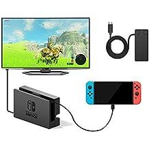 Nintendo Switch 延長 充電ケーブル,UMTELE ニンテンドースイッチ ドッグセット専用 高速充電対応 延長コード TypeC 延長ケーブル10Gbps テレビ ミラーリング データ転送 (1m)