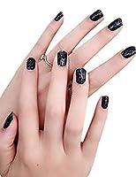 ビエスディディ ネイルチップ 防水 貼るタイプ 多種類 3D飾り 華やか レディース #026 ブラック