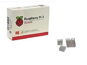 Raspberry Pi 3 Model B+正規代理店品 RS製 made in UK(ヒートシンク付き)