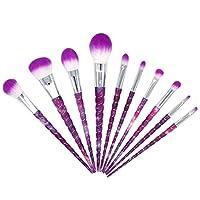 MHKBD-JPスレッドメイクブラシセットツールメイクアップトイレタリーキット繊維化粧ブラシアイブラシ10 in 1 化粧筆 (サイズ : 10-piece)