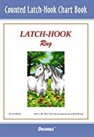 Orchidea Latch Hook Chart:牧草地の馬、マルチ、50 x 74.5 cm