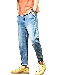 GuDeKe 春 ジーンズ メンズ デニム ハーレムパンツ デニムパンツ 大きいサイズ ダメージデニム ズボン ゆったり カジュアル 薄手 ジーパン 通勤