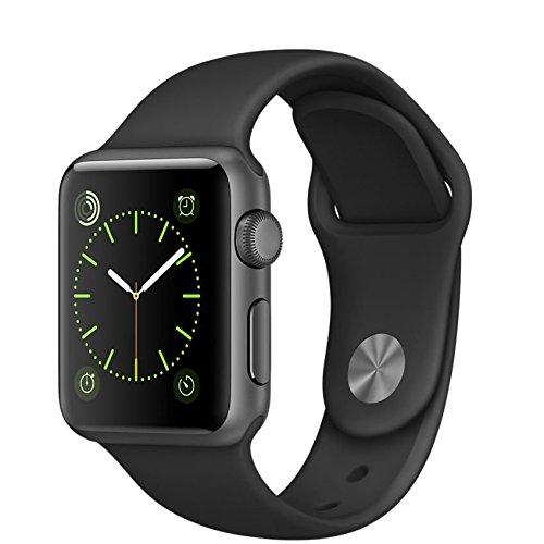 Apple Watch スペースグレイアルミニウムケースとブラックスポー...