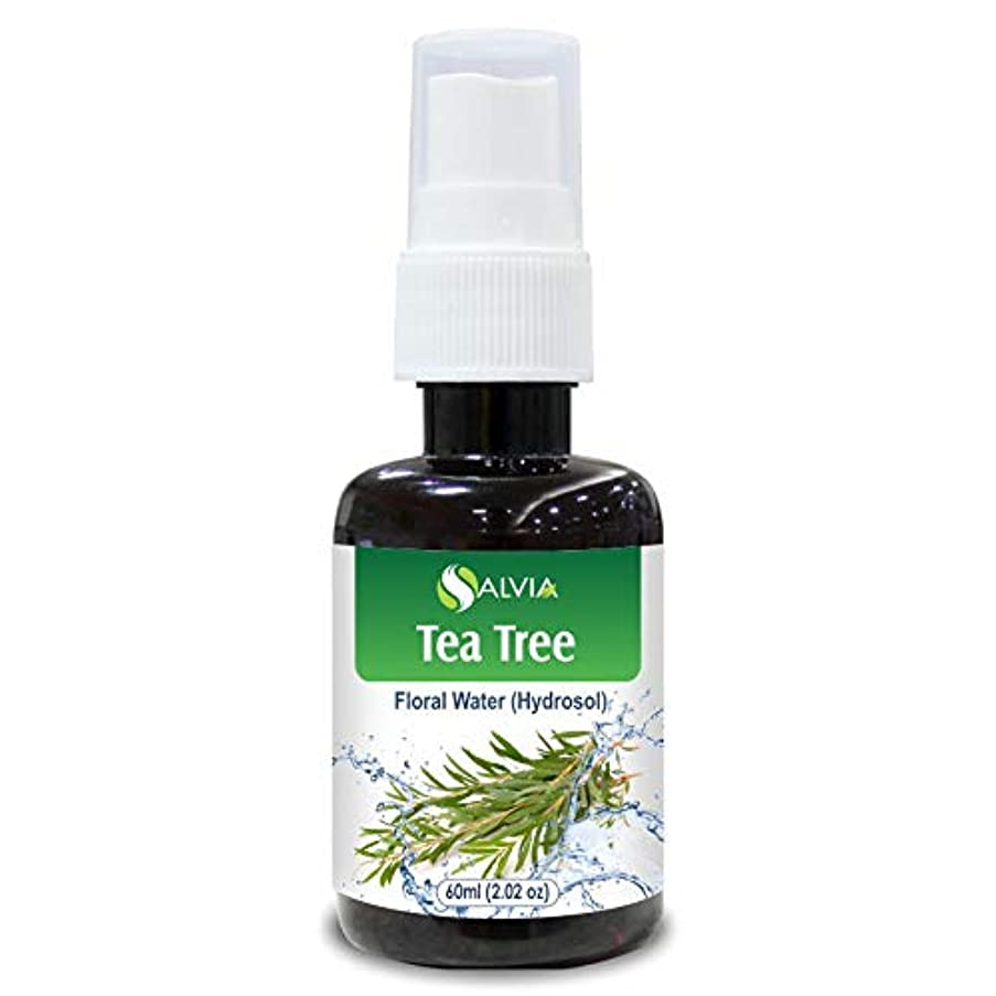 アサー処理する見習いTea Tree Floral Water 60ml (Hydrosol) 100% Pure And Natural