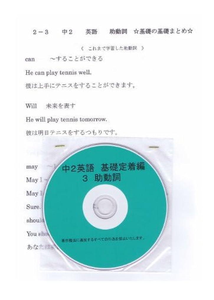 反発ダイアクリティカル原始的な中学 英語 2年【基礎】問題集 3 助動詞 DVD (授業+テキスト+問題集)