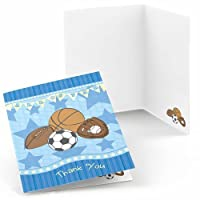 All Star Sports - Baby Shower or Birthday Party Thank You Cards (8 count) [並行輸入品]