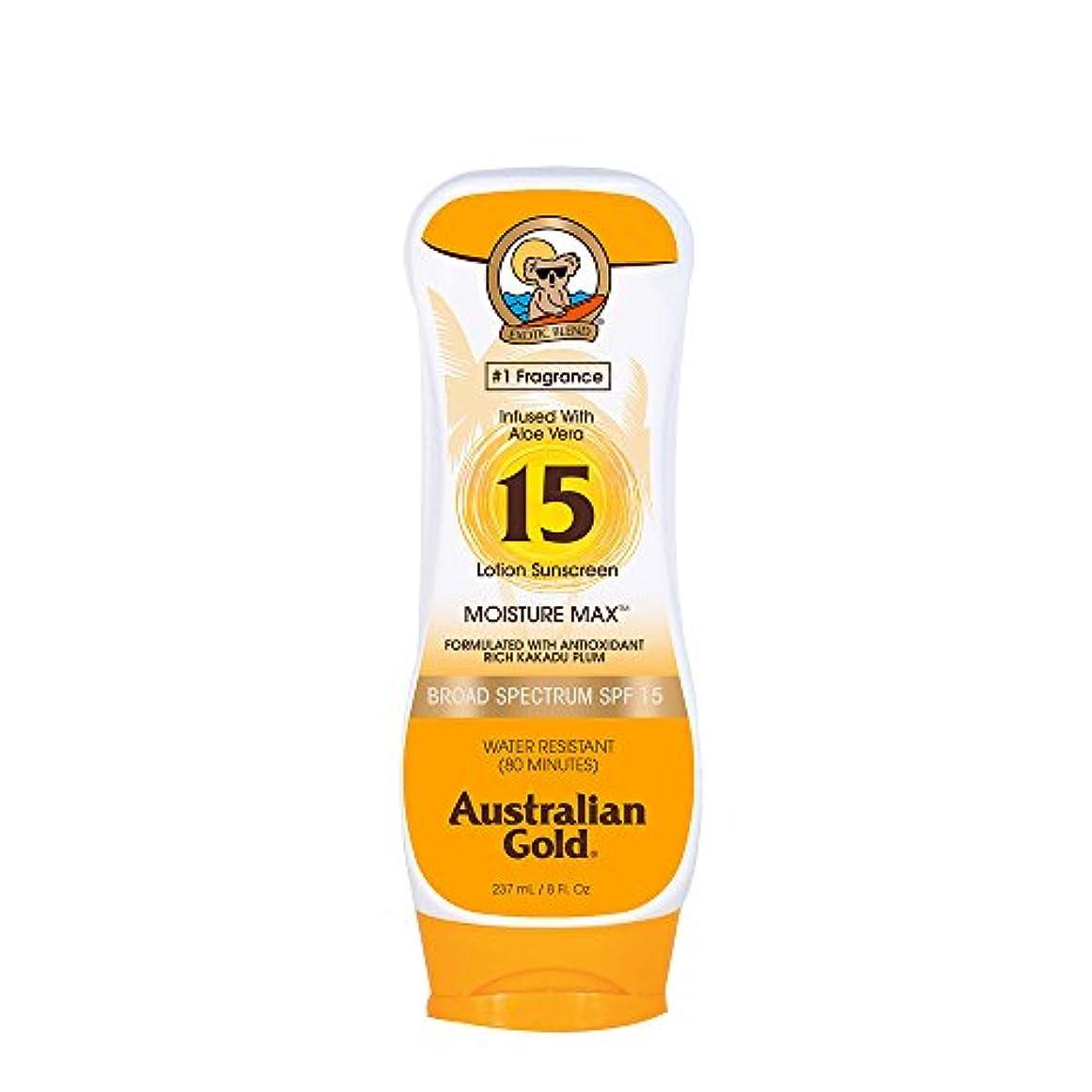混雑樹皮インスタントAustralian Gold Lotion Sunscreen Broad Spectrum SPF 15 237ml/8oz並行輸入品