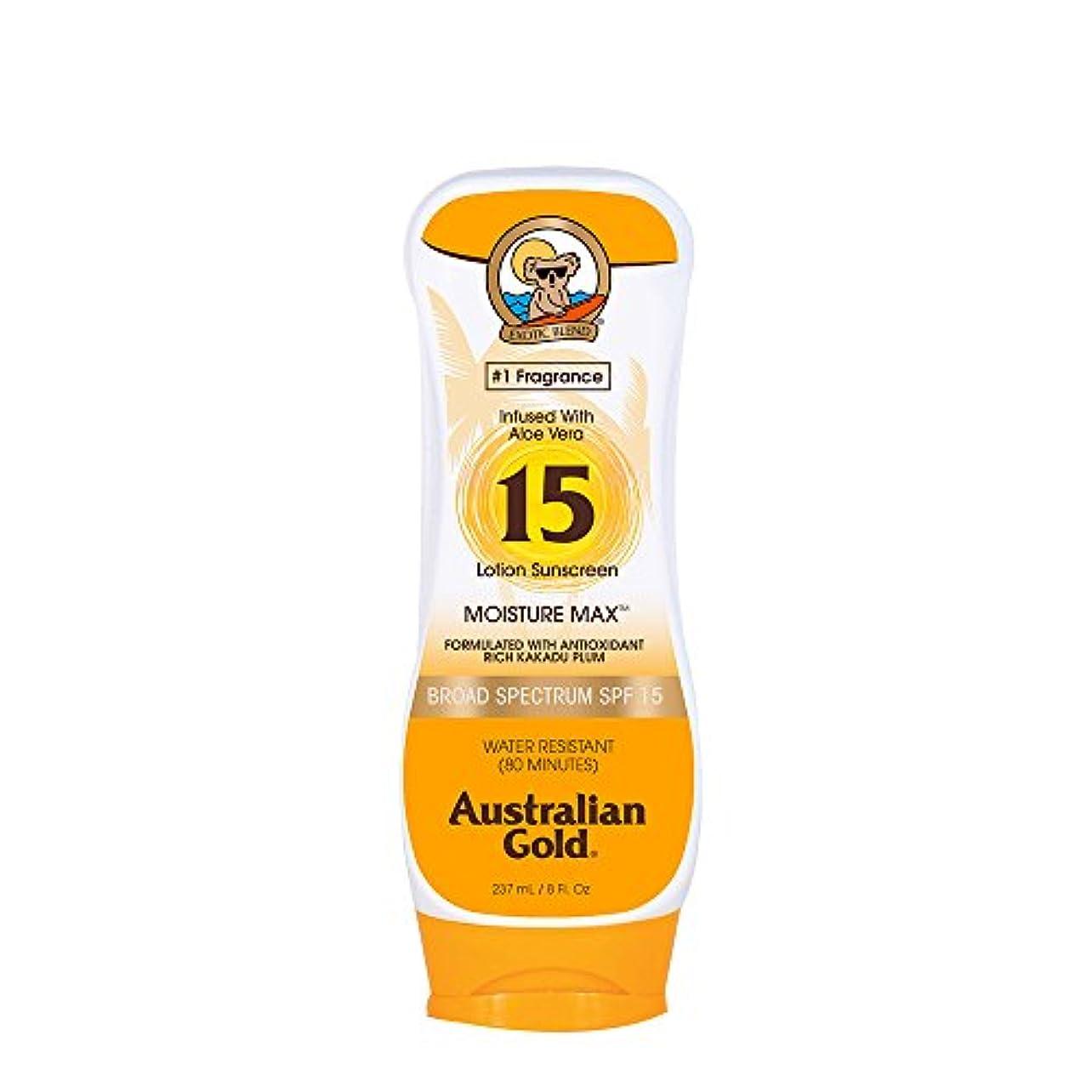 ライター架空の補うAustralian Gold Lotion Sunscreen Broad Spectrum SPF 15 237ml/8oz並行輸入品