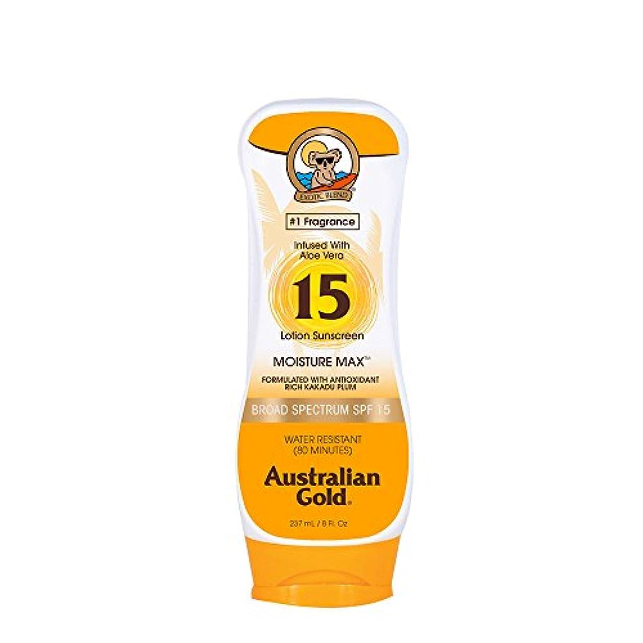 支払う粘り強い入り口Australian Gold Lotion Sunscreen Broad Spectrum SPF 15 237ml/8oz並行輸入品