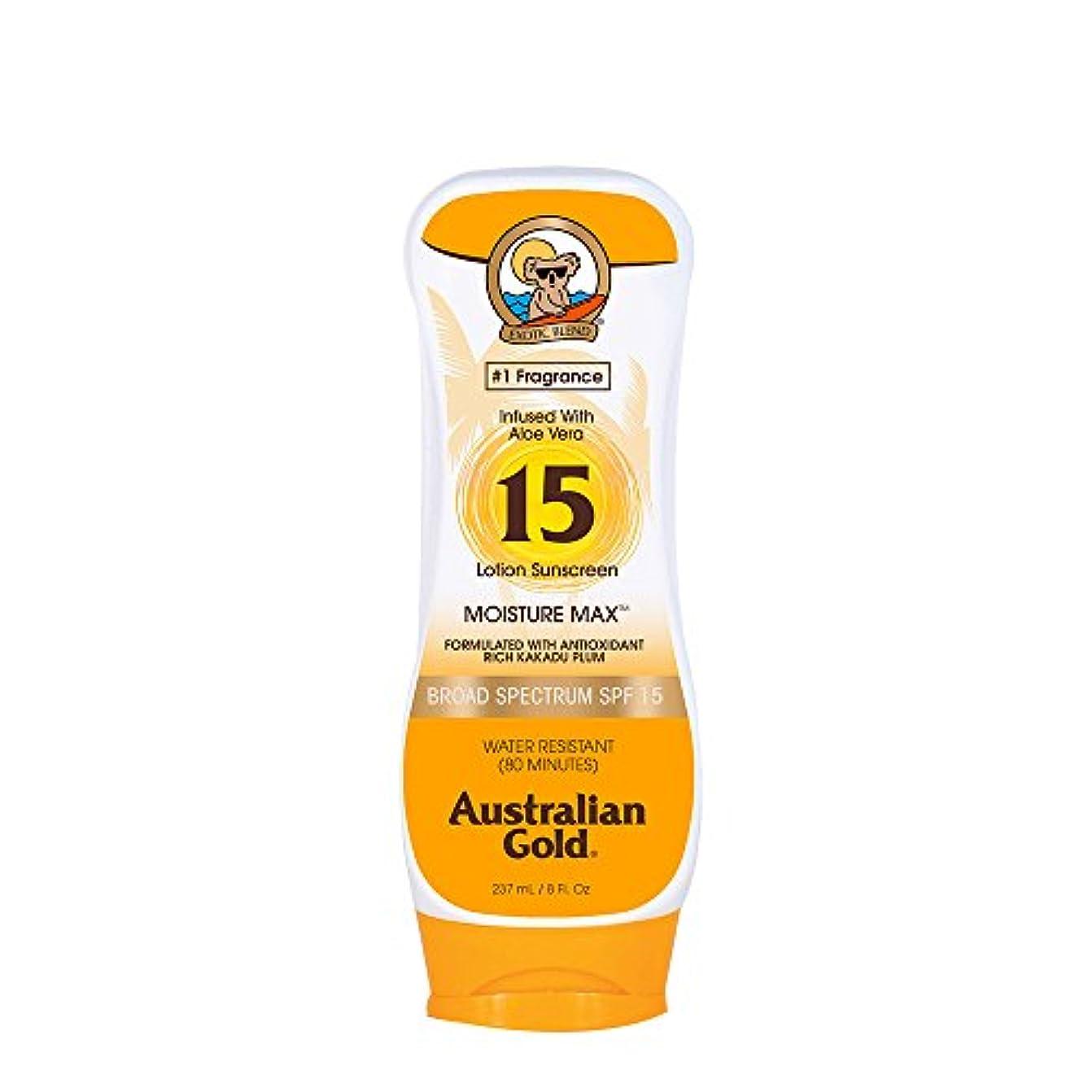 家族ペック無視できるAustralian Gold Lotion Sunscreen Broad Spectrum SPF 15 237ml/8oz並行輸入品