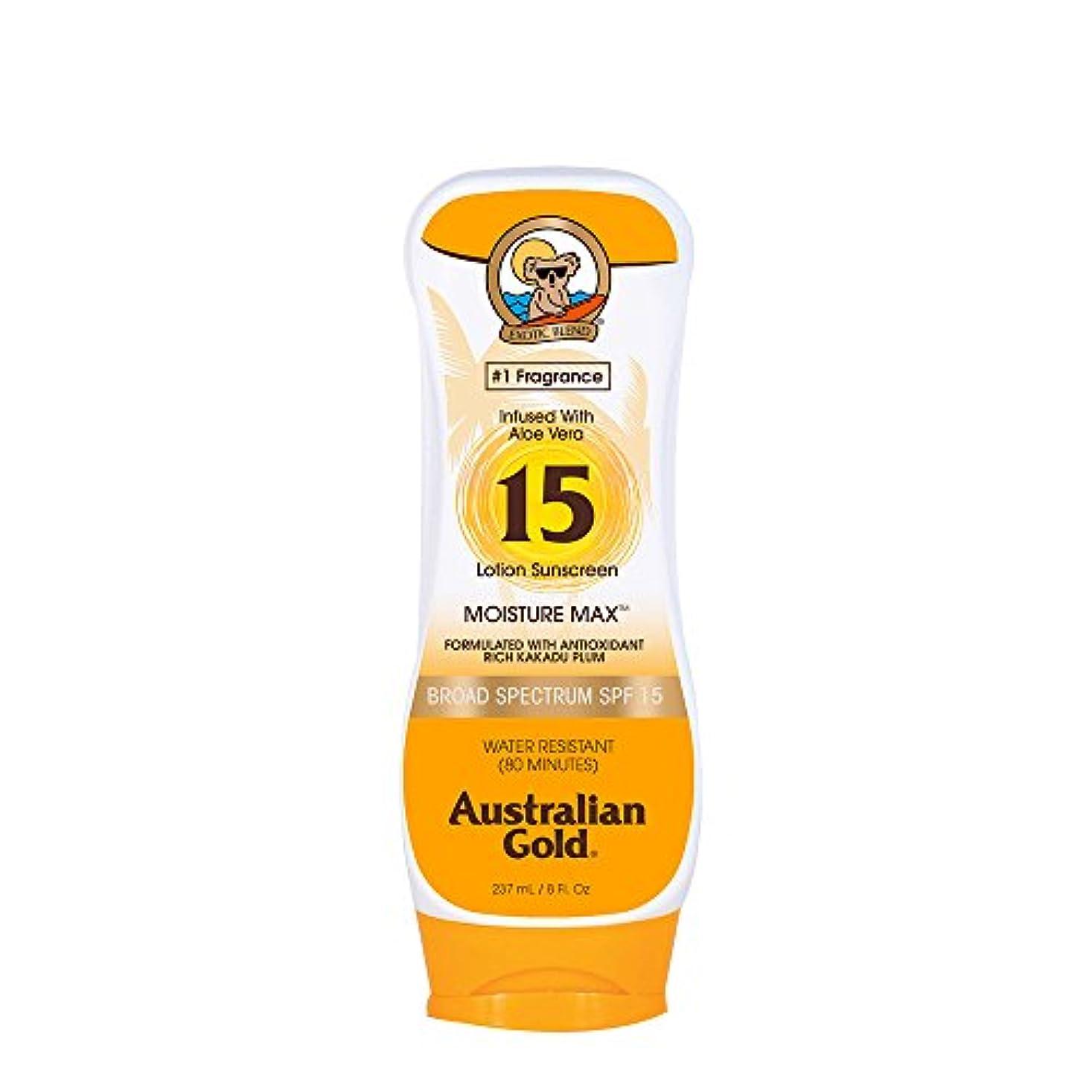 メタリック家主間Australian Gold Lotion Sunscreen Broad Spectrum SPF 15 237ml/8oz並行輸入品