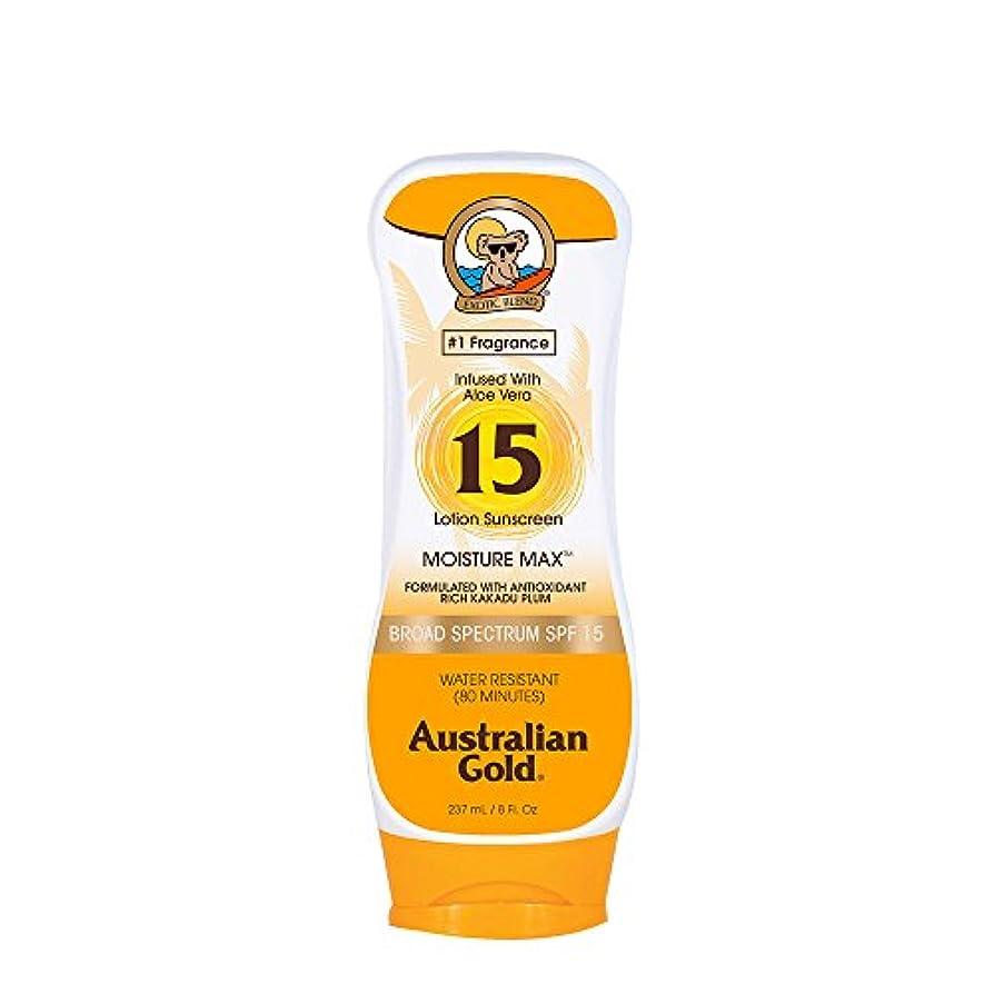 黒人ミシンオーブンAustralian Gold Lotion Sunscreen Broad Spectrum SPF 15 237ml/8oz並行輸入品
