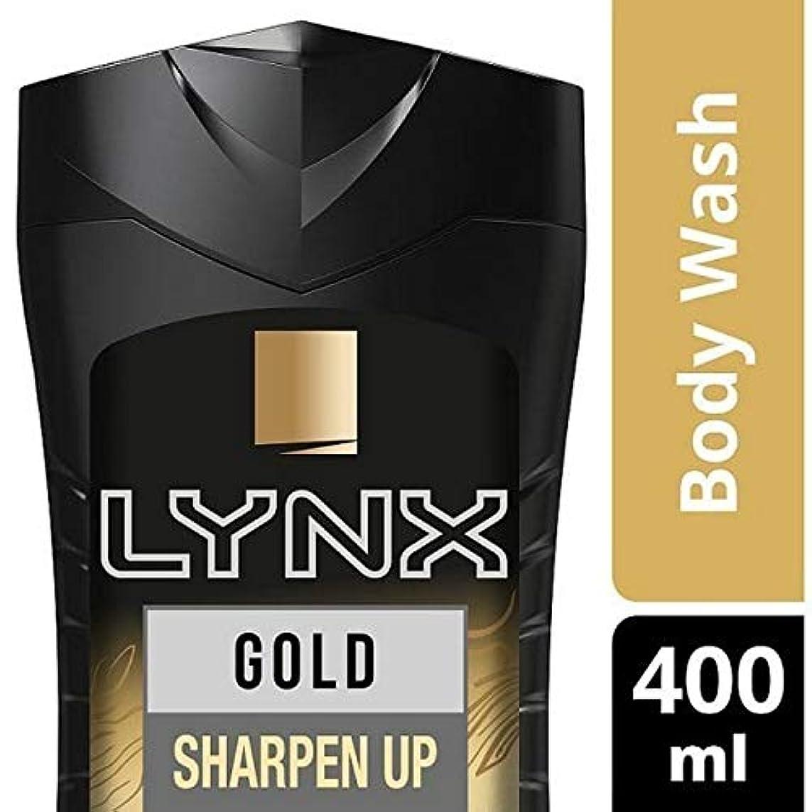 安息効能ある優先[Lynx ] オオヤマネコの金Oudwood&バニラシャワージェル400ミリリットル - Lynx Gold Oudwood & Vanilla Shower Gel 400ml [並行輸入品]
