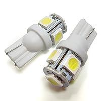 ウイングロード Y11 Y11 T10 LED ポジションランプ ナンバー灯 ルームランプ バックランプ 汎用 純正交換 バルブ led5連 拡散 白 ホワイト 2個セット