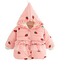 XFentech Baby Girls Cloak Hooded Outerwear - Newborn Infant Baby Girl Coat Cotton Autumn Winter Warm Thick Jacket