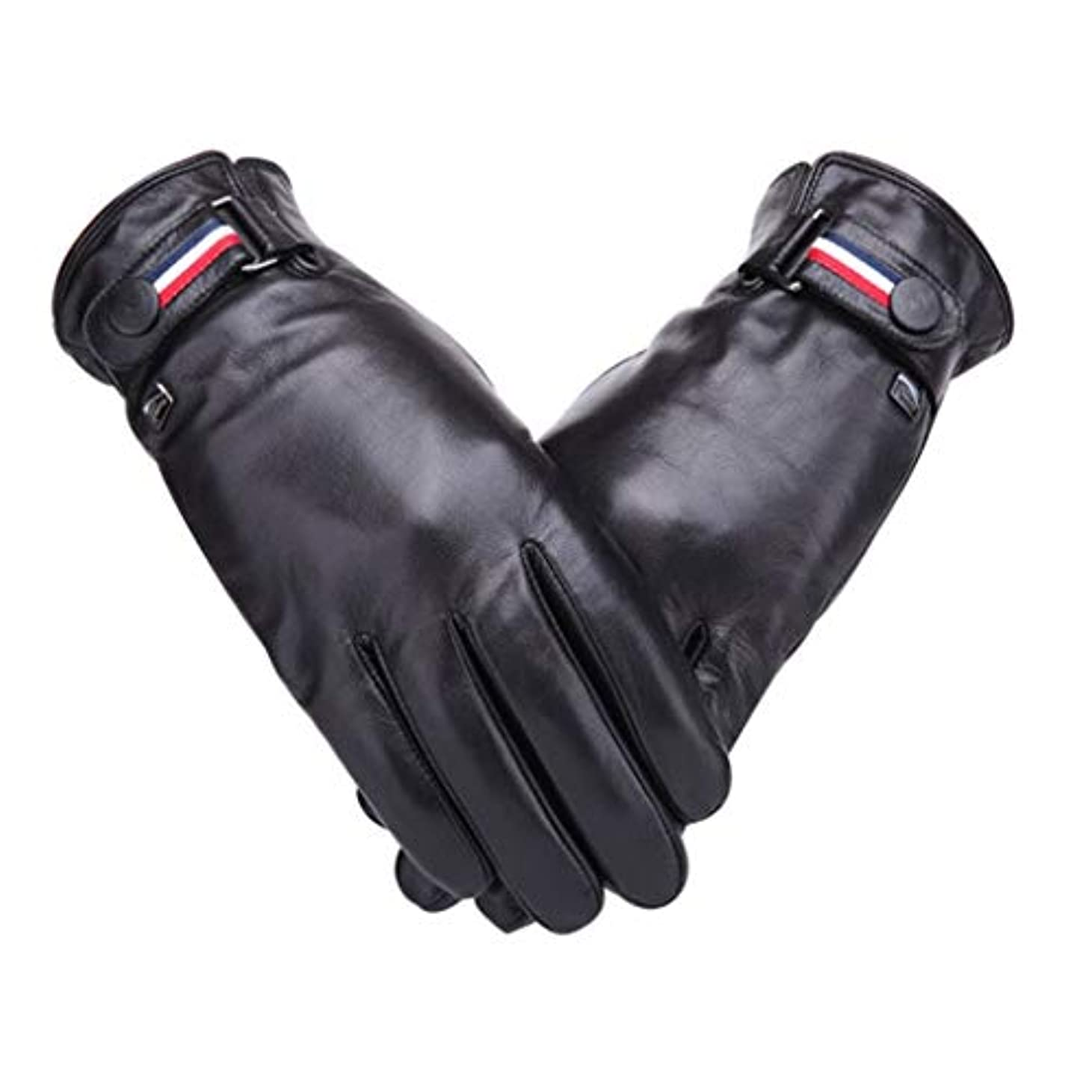 珍しいモザイクいいね羊皮の手袋の男性秋と冬のサイクリングwindproof暖かいプラスベルベットの肥厚の男性の手袋