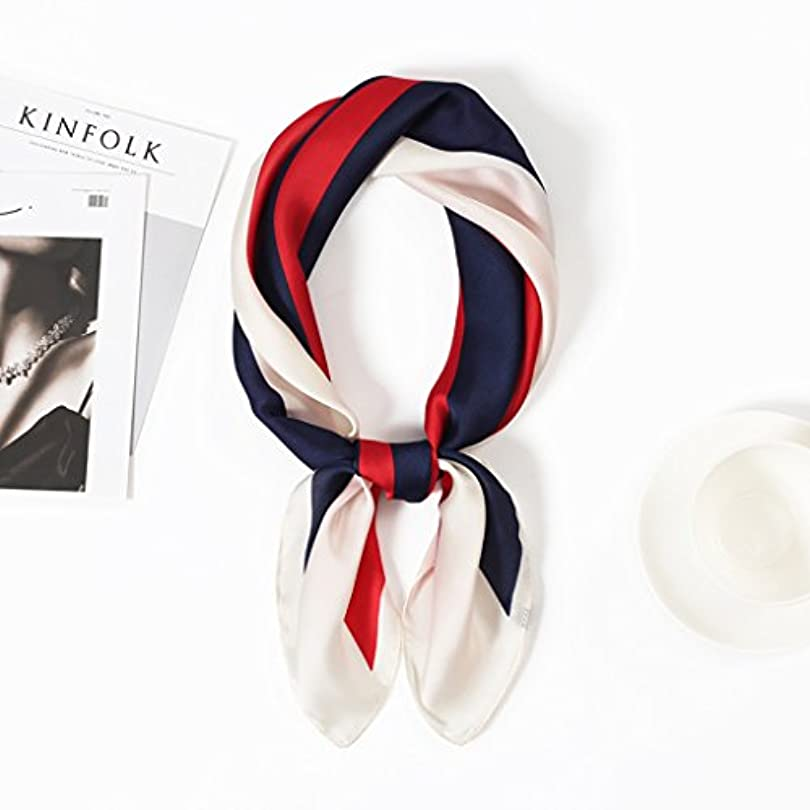 すでに雪だるまポンプ女性のスカーフストライプエレガントなビジネス春と秋ファッションかわいいスチュワーデスヨーロッパとアメリカのスタイル ファッション小物 (Color : Red)