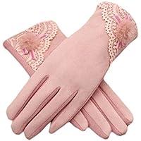 厚みサイクリング運転アウトドアIphone手袋暖かいベルベットファッションタッチスクリーン用手袋women-light pink03