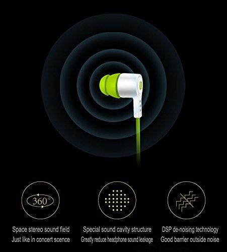 Globee DPSノイズキャンセリング カナル インナーイヤー 型 イヤホン マイク付 コントローラー シャッター操作 通話可能 ステレオ 音質 耳から抜けにくい 防水 痛くない HF208-Pink