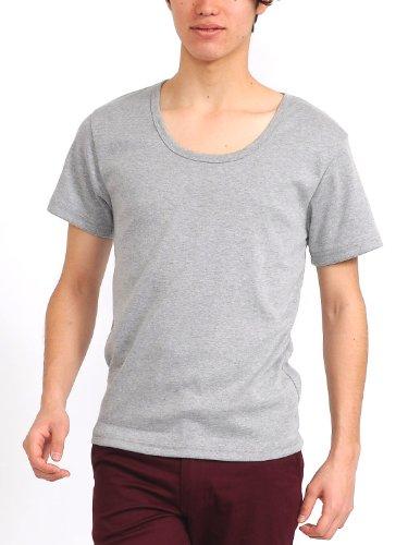 半袖Tシャツ メンズ Uネック Tシャツ 半袖 無地 シンプル 【w335】 スペード