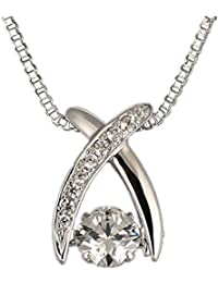 a2328d7cbab2fa キュービックジルコニア シルバーネックレス レディース シルバー925 ネックレス ジルコニアペンダント CZダイヤモンド ...