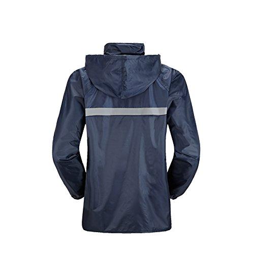 JTENG レインスーツ 上下セット レインコート レインウェア 防水 軽量 アウトドア 男女兼用 高品質 耐久性 自転車 バイク 通学 通勤 (XL)