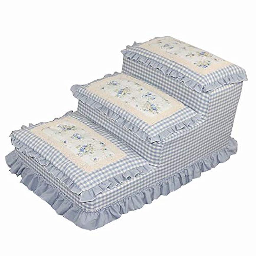 泣いているサーマル大通り高いベッドと高いソファ、3段式犬用階段キャットウォーク、取り外し可能、洗えるペット同伴可