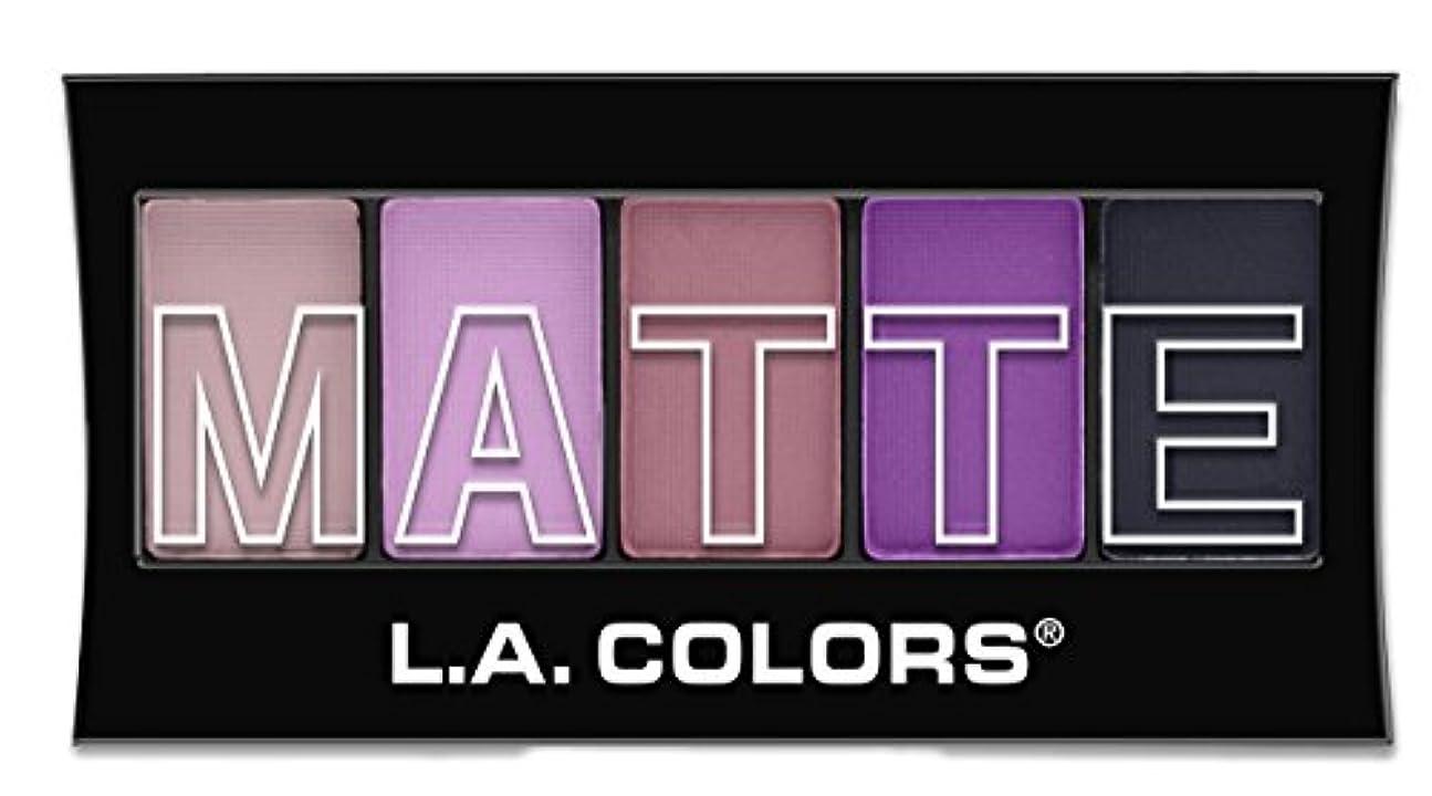 ましいバランスのとれた腹L.A. Colors Matte Eyeshadow - Plum Pashmina (並行輸入品)