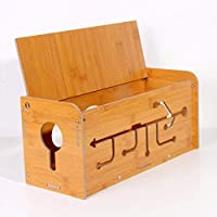 Kitzen 木製ケーブル収納ボックス ワイヤーケーブルコード マネージャーケースボックス デスク