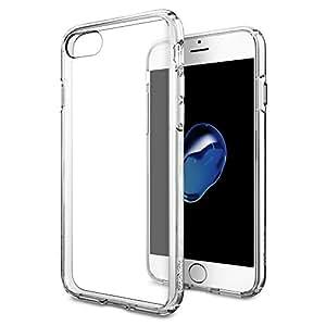 【Spigen】iPhone7 ケース, [ 全面 クリア ] [ 米軍MIL規格取得 ] [ 落下 衝撃 吸収 ] ウルトラ・ハイブリッド アイフォン 7 用 耐衝撃カバー (iPhone7, クリスタル・クリア)