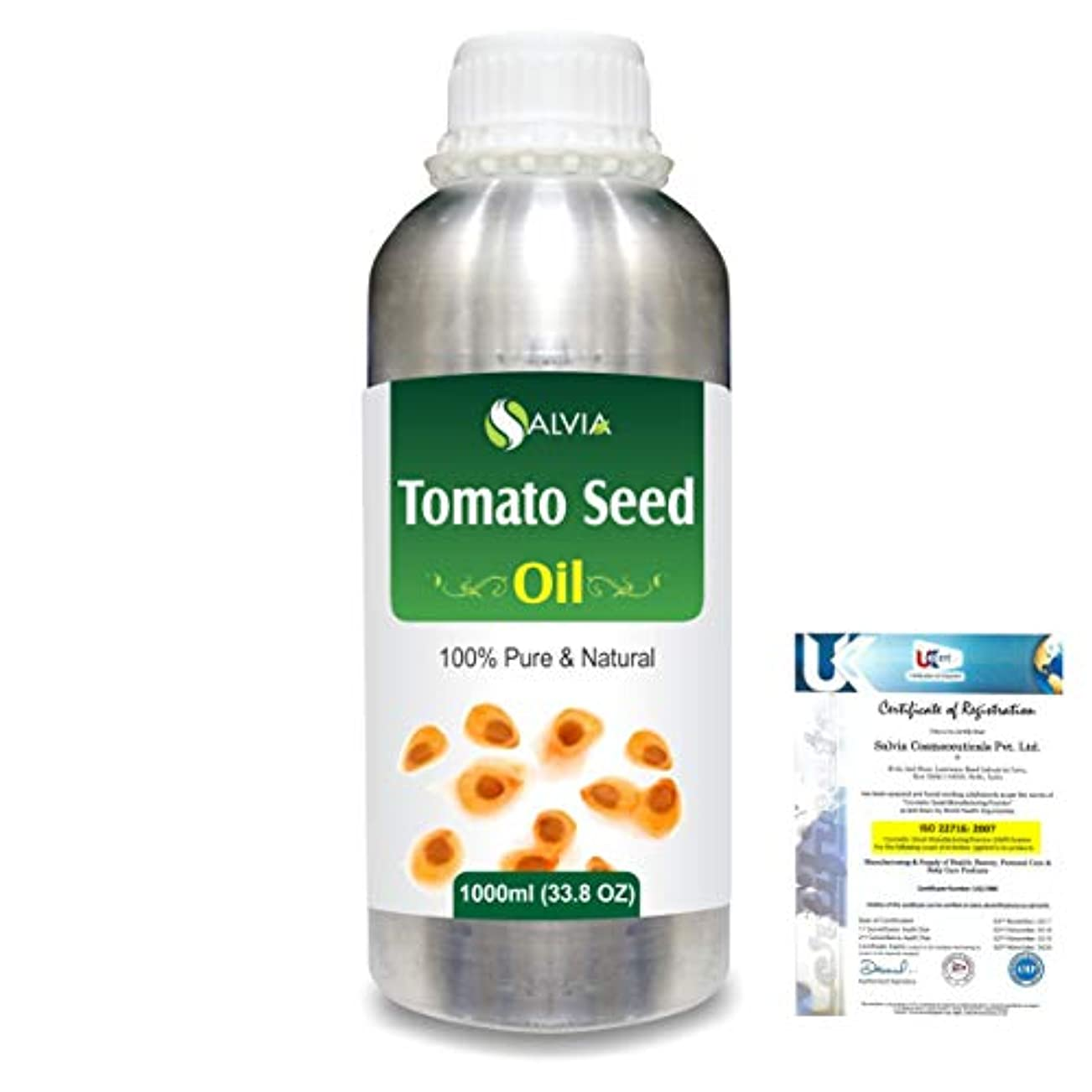 帝国主義笑い不快Tomato Seed (Lycopersicon Esculentum) 100% Pure Natural Carrier Oil 1000ml/33.8fl.oz.
