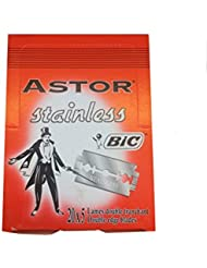 BIC Astor Stainless 両刃替刃 100枚入り(5枚入り20 個セット)【並行輸入品】