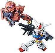 SD Gundam Cross Silhouette RX-78-2 Gundam & Char's Zaku II Color Coded Plast