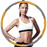 HOUSMART フラフープ 大人用 【2020年最新版】サイズ調整可 組み立て式 ダイエット 体操用品 ウエスト くびれ 引き締め 有酸素運動 サイズ調整可 直径約96cm 8本組 子供用