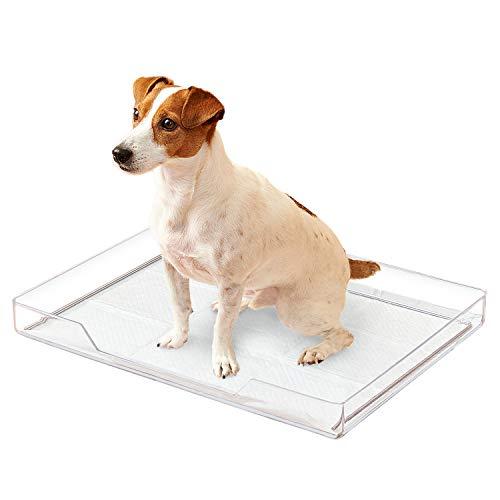 オーエフティー クリアレット トレー&シーツストッパーセット 透明 犬 トイレ デザイナーズトイレ 滑り止め付き ワイドシーツ対応 サイズ(約) 幅58×奥43×高6.5cm クリア