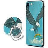 SuperIE IPhone 7 IPhone 8 専用 携帯ケース リング付き イーグルス 虹 かわいい 耐衝撃 指紋防止 全面保護 脱着簡単 スクラッチ防止 スマホ アイフォンケース